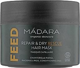 Düfte, Parfümerie und Kosmetik Pflegende Haarmaske mit Pfifferlingsextrakt, Mikrokeratin und Phospholipiden - Madara Cosmetics Feed Repair & Dry Rescue Hair Mask