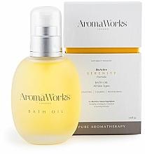 Düfte, Parfümerie und Kosmetik Beruhigendes und revitalisierendes Badeöl für alle Hauttypen - AromaWorks Serenity Bath Oil