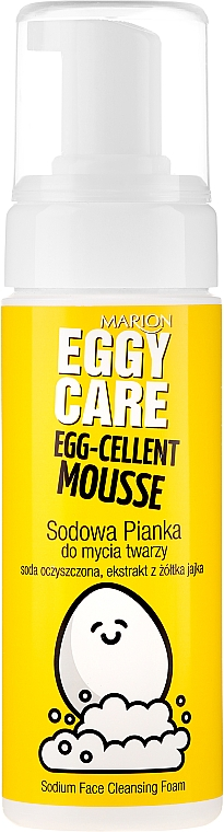 Gesichtsreinigungsschaum mit Natriumbicarbonat und Eigelb-Extrakt - Marion Egg-Cellent Mousse Eggy Care