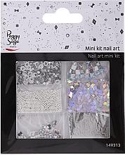 Düfte, Parfümerie und Kosmetik Nageldekorationen, 149313 - Peggy Sage Mini Kit Nail Art Argent (6St.)