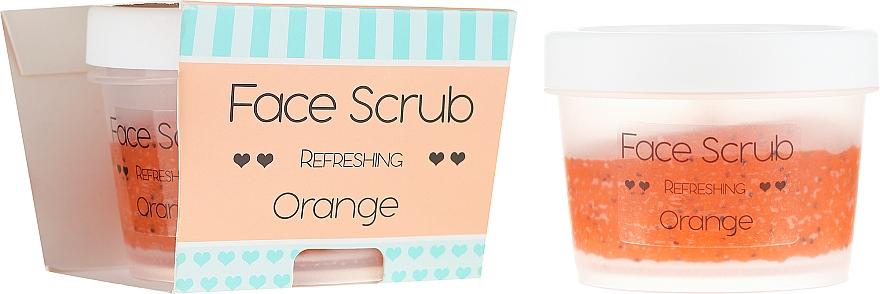 Erfrischendes Gesichtspeeling Orange mit Jojoba- und Mandelöl - Nacomi Refreshing Face Orange