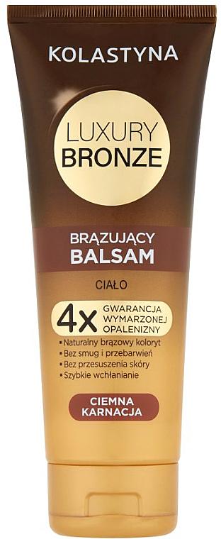 Bräunungsbalsam für dunkle Haut - Kolastyna Luxury Bronze Tanning Balm