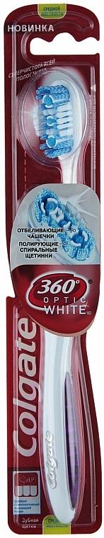 Zahnbürste mittel 360° Optic White weiß-violett - Colgate — Bild N1