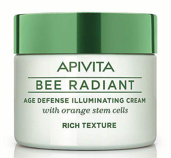 Reichhaltige Anti-Aging Gesichtscreme für strahlende Haut mit Orange-Stammzellen - Apivita Bee Radiant Rich Cream