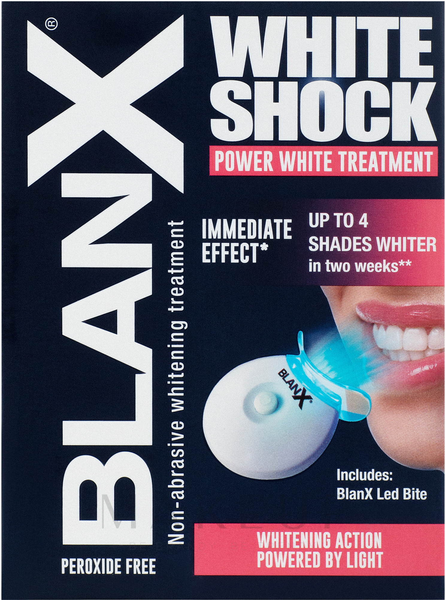 Intensiv aufhellende Zahnbehandlung - BlanX White Shock Treatment + Led Bite — Bild 50 ml