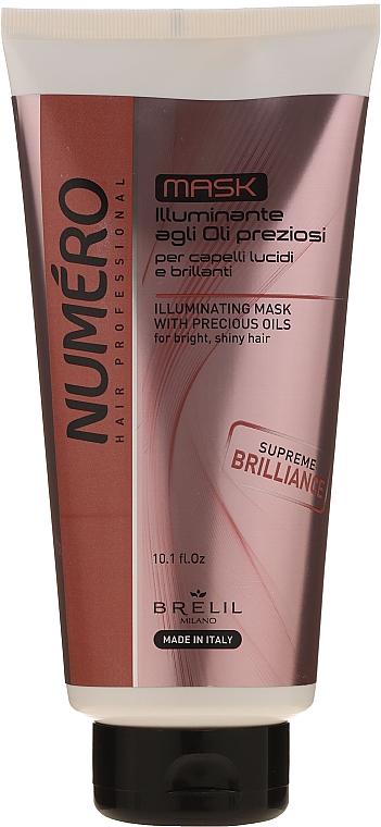 Haarmaske für mehr Glanz mit wertvollen Ölen - Brelil Numero Illuminating Mask With Precious Oils