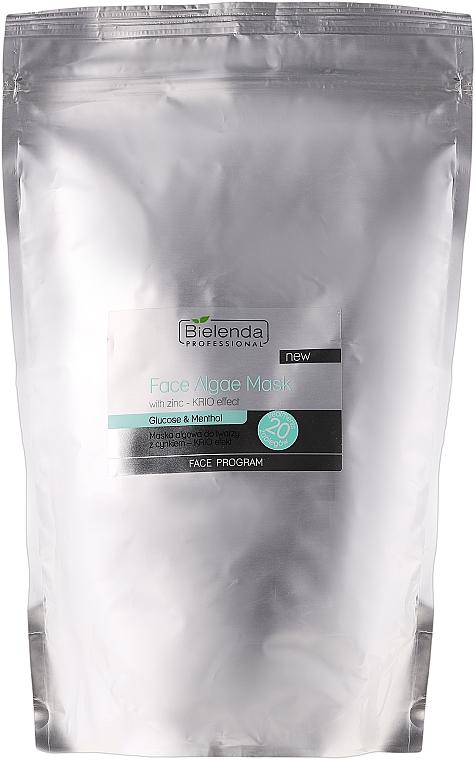 Alginat-Gesichtsmaske mit Zink für empfindliche, irritierte Haut - Bielenda Professional Algae Face Mask With Zink-Krio Effect
