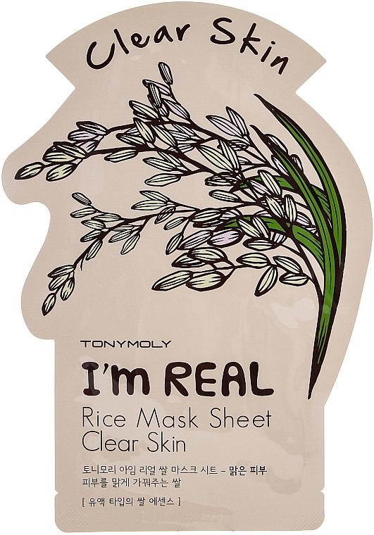 Tuchmaske mit Reis - Tony Moly I'm Real Rice Mask Sheet