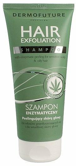 Peeling-Shampoo für sensible Kopfhaut und fettiges Haar mit Hanföl - Dermofuture Hair Exfoliation Shampoo