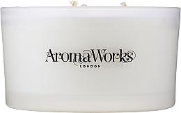 Düfte, Parfümerie und Kosmetik Soja-Duftkerze im Glas mit 3 Dochten, Zitronengras- und Storchschnäbel-Duft - AromaWorks Serenity Candle 3-wick