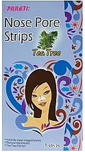 Düfte, Parfümerie und Kosmetik Tiefreinigende Nasenporenstreifen mit Teebaumextrakt - Prreti Nose Pore Strips Tea Tree