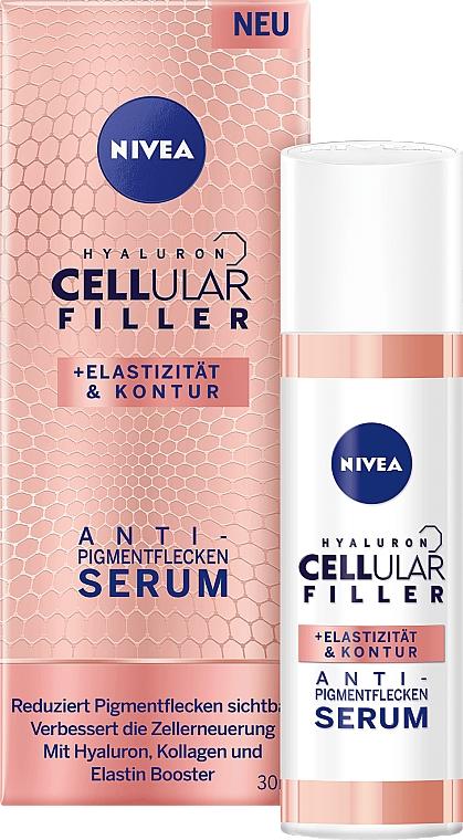 Gesichtsserum gegen Pigmentflecken mit Hyaluronsäure, Kollagen und Elastin - Nivea Cellular Anti-Blemish Serum