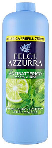 Antibakterielle Flüssigseife Minze & Limette - Felce Azzurra Antibacterial Mint & Lime (Nachfüllflasche)