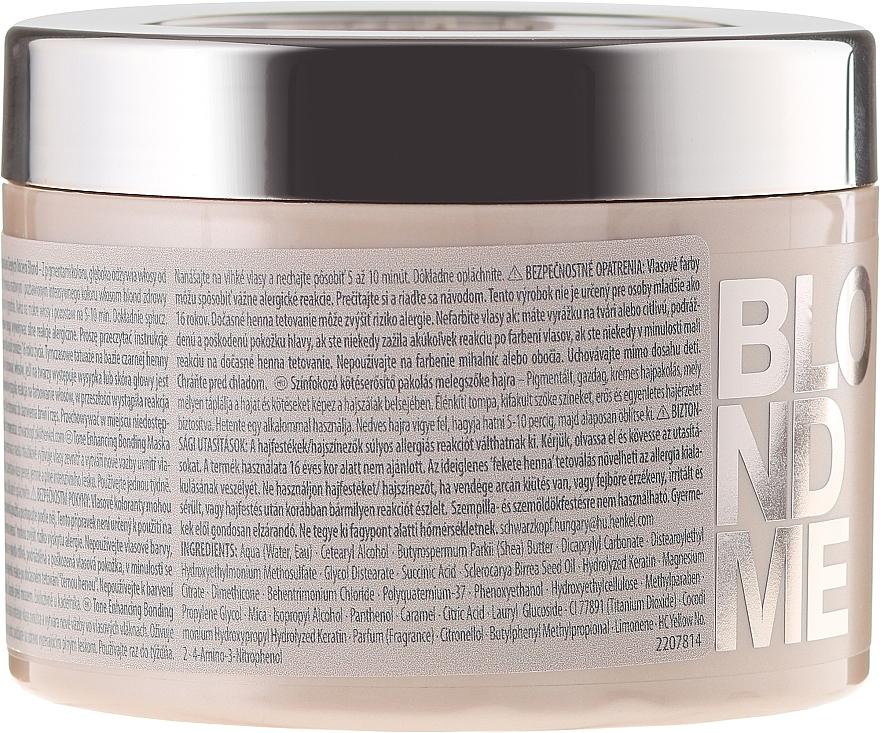 Aufbauende Intensivkur für warme Blondtöne - Schwarzkopf Professional Blondme Tone Enhancing Bonding Mask Warm Blondes — Bild N2