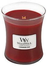 Düfte, Parfümerie und Kosmetik Duftkerze im Glas Cinnamon Chai - WoodWick Hourglass Candle Cinnamon Chai