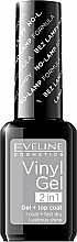 Düfte, Parfümerie und Kosmetik Gelnagellack - Eveline Cosmetics Vinyl Gel 2In1 Gel+Top Coat