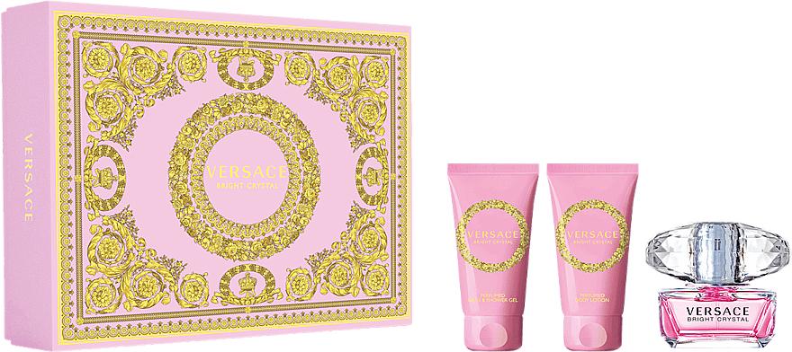 Versace Bright Crystal - Duftset (Eau de Toilette 50ml + Körperlotion 50ml + Duschgel 50ml)