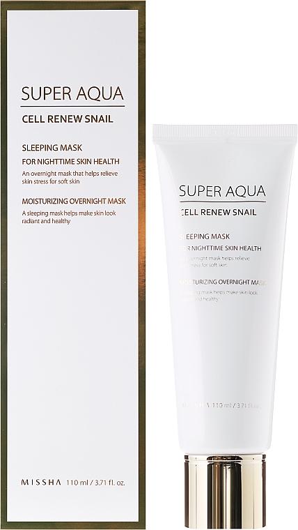 Nachtgesichtsmaske mit Honig - Missha Super Aqua Cell Renew Snail Sleeping Moisturizing Mask
