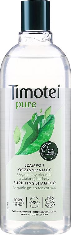 Shampoo für normales bis fettiges Haar mit Bio Grüntee-Extrakt - Timotei