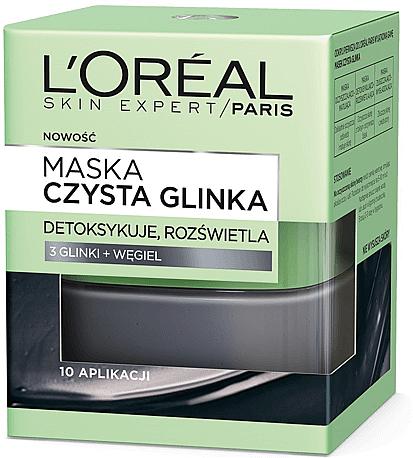 Aufhellende Detox-Gesichtsmaske mit Ton und Aktivkohle - L'Oreal Paris Skin Expert