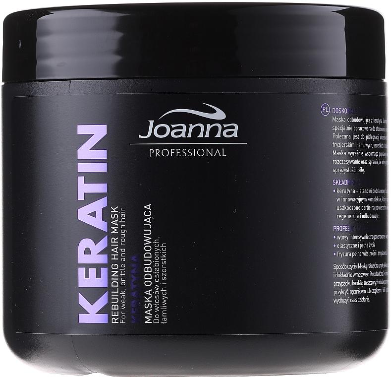 Regenerierende Maske mit Keratin für schwaches und strapaziertes Haar - Joanna Professional