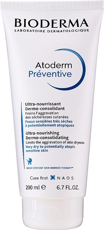 Nährende Körpercreme gegen das Austrocknen der Haut bei kleinen Kindern - Bioderma Atoderm Preventive Nourishing Cream Dermo-Consolidating