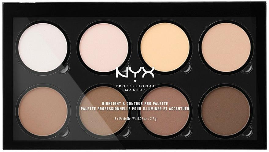 Highlight- und Konturpalette - NYX Professional Makeup Highlight & Contour Pro Palette