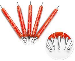Düfte, Parfümerie und Kosmetik Nagelkunststift-Set orange - Silcare