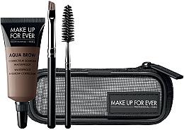 Düfte, Parfümerie und Kosmetik Make Up For Ever Aqua Brow Eyebrow Corrector Kit 15 (Augenbrauenkorrektor 7ml + Augenbrauenbürste 1 St. + Augenbrauenpinsel 1St. + Kosmetiktasche) - Augenbrauenset