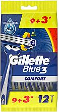 Düfte, Parfümerie und Kosmetik Set Rasierer 12 St. - Gillette Blue 3 Comfort