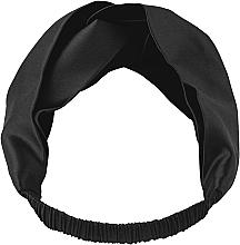 Düfte, Parfümerie und Kosmetik Haarband aus Naturseide schwarz Twist - Makeup Hairband Twist Black