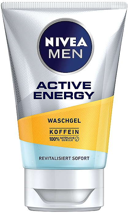 Gesichtswaschgel mit Koffein für Männer - Nivea Men Active Energy Caffeine Face Wash Gel — Bild N1