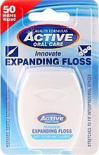 Düfte, Parfümerie und Kosmetik Zahnseide mit Minzgeschmack und Fluoride 50 m - Beauty Formulas Active Oral Care Expanding Floss Mint With Fluor 50m