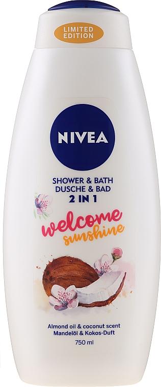 Pflegedusche und seidiges Cremebad 2in1mit Mandelöl und Kokosduft - Nivea Welcome Sunshine Body Wash Limited Edition