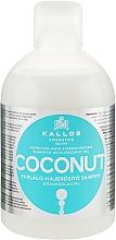 Düfte, Parfümerie und Kosmetik Aufbauendes-stärkendes Shampoo mit Kokosöl - Kallos Cosmetics Coconut Shampoo
