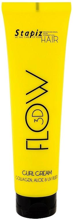 Haarcreme für lockiges Haar mit Kollagen und Aloe Vera - Stapiz Flow 3D Curl Cream