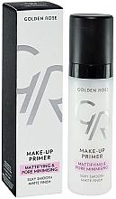 Düfte, Parfümerie und Kosmetik Mattierende Grundierung zur Porenminimierung - Golden Rose Make-Up Primer Mattifying & Pore Minimising