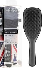 Düfte, Parfümerie und Kosmetik Schwarze Haarbürste groß - Tangle Teezer The Wet Detangler Black Gloss Large Size Hairbrush