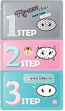 Düfte, Parfümerie und Kosmetik Reinigende Nasenpflaster in 3 Schritten gegen Mitesser - Holika Holika.Pignose Clear Black Head 3 Step Kit