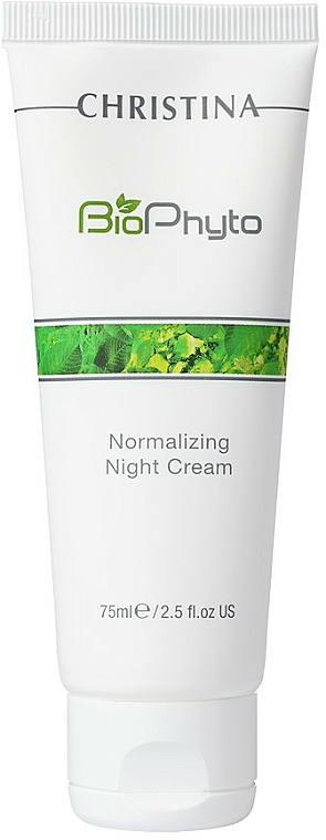 Normalisierende Nachtcreme für beschädigte und raue Haut - Christina Bio Phyto Normalizing Night Cream