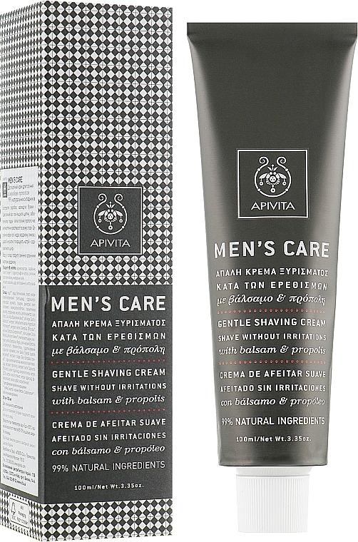 Rasiercreme mit Johanniskraut und Propolis - Apivita Men Men's Care Gentle Shaving Cream With Hypericum & Propolis