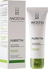Düfte, Parfümerie und Kosmetik Hypoallergene Nachtcreme für fettige und zu Akne neigende Haut - Iwostin Purritin Reducing Imperfections Night Cream