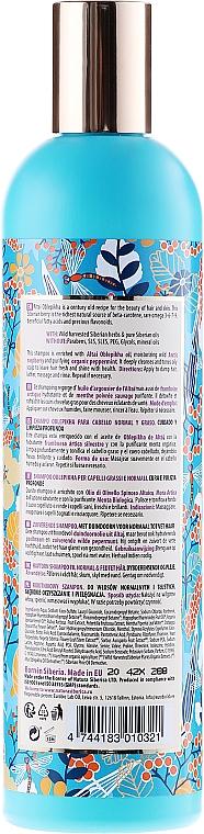 """Sanddorn Shampoo """"Tiefenreinigung und Pflege"""" für normales und fettiges Haar - Natura Siberica Oblepikha Siberica — Bild N2"""