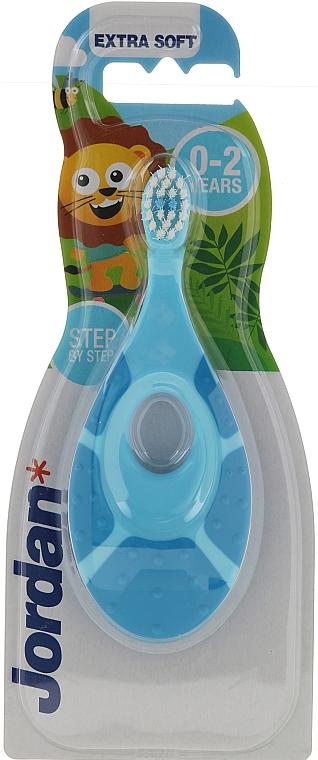 Kinderzahnbürste 0-2 Jahre extra weich Step by Step blau - Jordan Step By Step Extra Soft