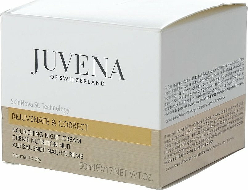 Pflegende Nachtcreme für normale bis trockene Haut - Juvena Rejuvenate & Correct Nourishing Night Cream — Bild N2