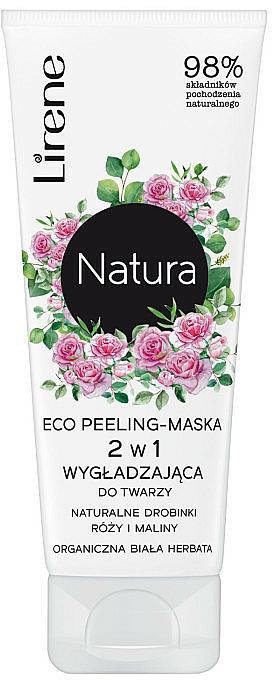 Peelingmaske für das Gesicht mit Rosen und Himbeeren - Lirene Natura Eco Peeling-Mask