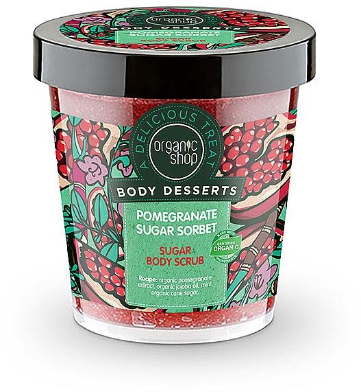 Revitalisierendes Körperpeeling mit Bio Granatapfelextrat - Body Desserts Pomegranate Sugar Sorbet Sugar Body Scrub