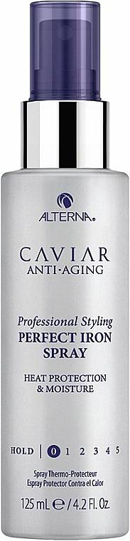 Wärmeschutzspray zur Haarglättung mit Schwarzkaviar-Extrakt - Alterna Caviar Anti-Aging Perfect Iron Spray