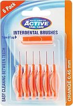 Düfte, Parfümerie und Kosmetik Interdentalzahnbürsten 0,45 mm orange 6 St. - Beauty Formulas Active Oral Care Interdental Brushes Orange