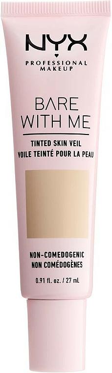 Flüssige Foundation mit Active Light-Technologie und SPF 10 - NYX Professional Bare With Me Tinted Skin Veil